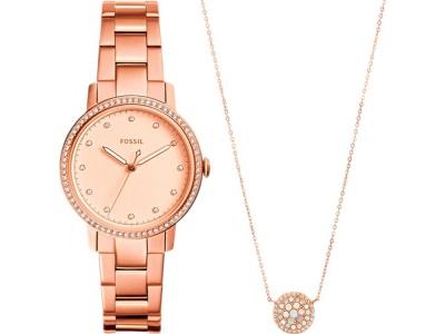 OA2003025471 Fossil. Подарочный набор: часы наручные женские, кулон. Fossil