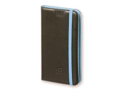 OA170122837 Moleskine. Чехол-книжка универсальный двухцветный, L, черный/голубой