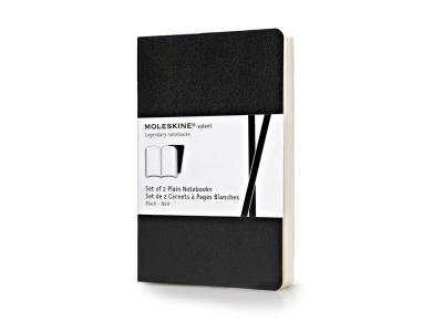 60212007 Записная книжка Moleskine Volant (нелинованная, 2 шт.), Pocket (9х14см), черный