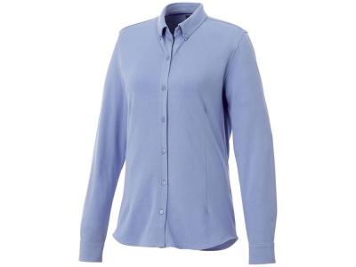 OA2003026456 Elevate. Женская рубашка Bigelow из пике с длинным рукавом, светло-синий