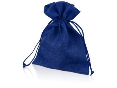 OA1701222980 Мешочек подарочный, искусственный лен, средний, темно-синий