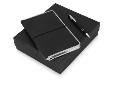 OA2003023816 Подарочный набор Silver Sway с ручкой и блокнотом А5, черный