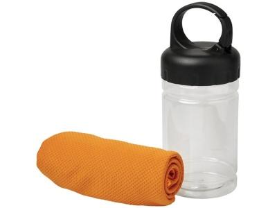 OA2003027787 Охлаждающее полотенце Remy в ПЭТ-контейнере, оранжевый
