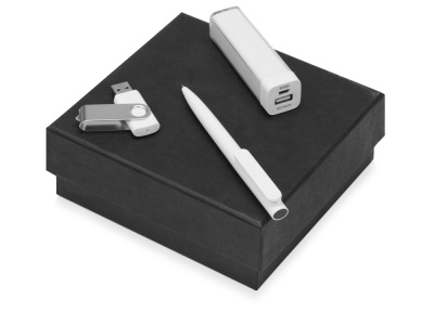 OA2003023796 Подарочный набор On-the-go с флешкой, ручкой и зарядным устройством, белый