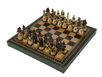 OA2003024618 Шахматы Бородино, черный/зеленый