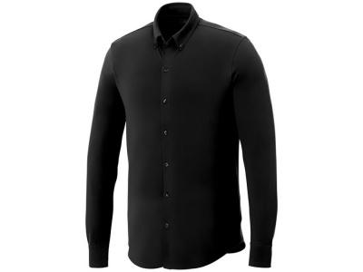 OA2003026443 Elevate. Мужская рубашка Bigelow из пике с длинным рукавом, черный