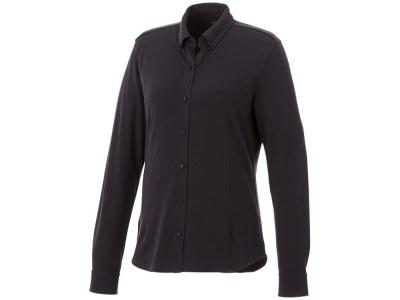 OA2003026468 Elevate. Женская рубашка Bigelow из пике с длинным рукавом, серый графитовый