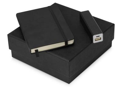 OA2003023780 Подарочный набор To go с блокнотом и зарядным устройством, черный