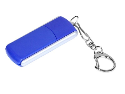 OA2003025118 Флешка промо прямоугольной формы, выдвижной механизм, 64 Гб, синий
