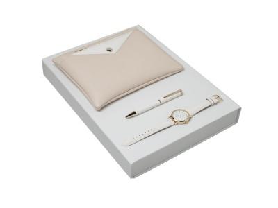 OA200302620 Cacharel. Подарочный набор Bagatelle: часы наручные, ручка шариковая, сумочка. Cacharel