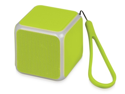 OA2003022195 Портативная колонка Cube с подсветкой, зеленое яблоко