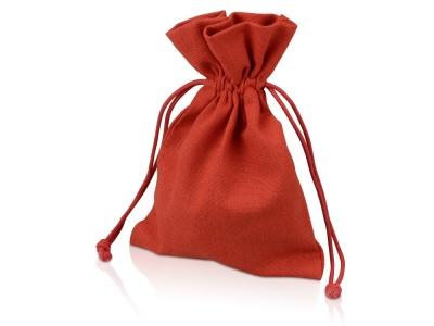 OA1701222973 Мешочек подарочный, лен, средний, красный