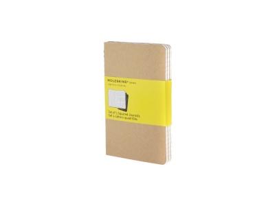 60712217 Записная книжка Moleskine Cahier (в клетку, 3 шт.), Pocket (9х14см), бежевый