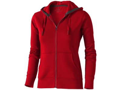 OA90TX-RED14S Elevate. Толстовка Arora женская с капюшоном, красный