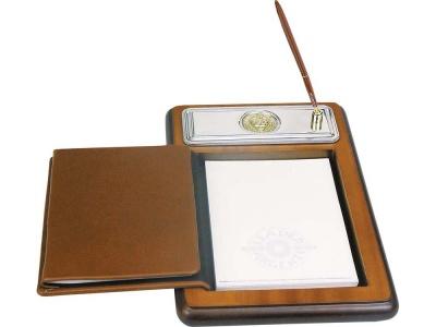 OA23O-BRN2 Luigi Pesaresi. Подставка для бумажного блока с ручкой и телефонной книжкой Голова льва Luigi Pesaresi