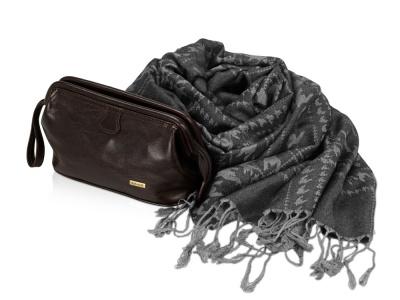OA2003026749 Diplomat. Подарочный набор: несессер, шарф, темный шоколад/серый