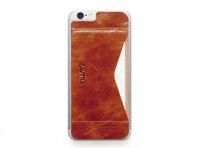 OA1701221633 ZAVTRA. Кошелек-накладка на iPhone 6/6s, коричневый