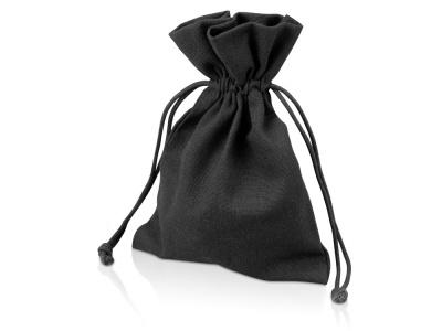 OA1701222974 Мешочек подарочный, лен, средний, черный