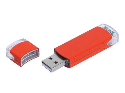 OA2003025159 Флешка промо прямоугольной классической формы, 64 Гб, оранжевый