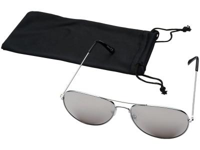 OA2003027628 Солнечные очки Aviator с цветными зеркальными линзами, серебристый