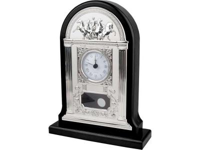 OA81W-BRN4 Часы настольные Александр Македонский, серебристый/черный