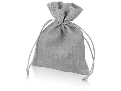 OA1701222986 Мешочек подарочный новогодний, хлопок, средний, серый