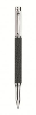 4470.082 Ручка роллер Carandache Varius Ivanhoe black  латунь черная кольчуга с родиевым напылением