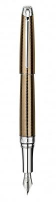 4799.487 Ручка перьевая Carandache Leman Caviar SP  F золото 18K подар.кор.
