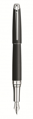 4799.486 Ручка перьевая Carandache Leman  Black lacquered matte SP F золото 18K подар.кор.