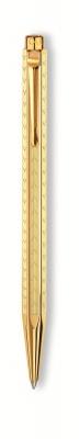 898.208 Ручка шариковая Carandache Ecridor Chevron gilded  подар.кор.