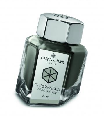 CA1Z-MLT7 Carandache CHROMATICS. Флакон с чернилами Carandache Chromatics  Infinite grey чернила 50мл