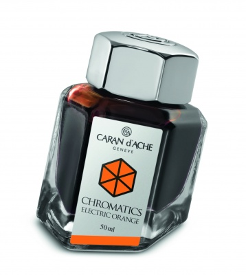 CA1Z-MLT36 Carandache CHROMATICS. Флакон с чернилами Carandache Chromatics  Electric orange чернила 50мл