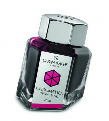 CA1Z-MLT58 Carandache CHROMATICS. Флакон с чернилами Carandache Chromatics  Divine pink чернила 50мл