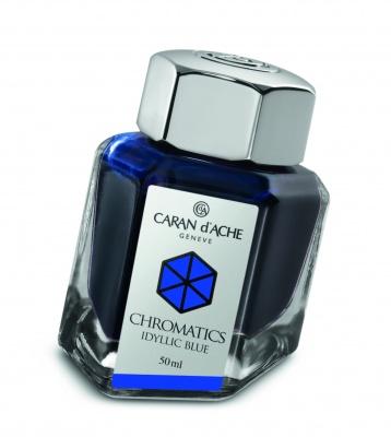 CA1Z-MLT13 Carandache CHROMATICS. Флакон с чернилами Carandache Chromatics  Iddyllic blue чернила 50мл