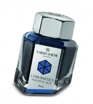 CA1Z-MLT38 Carandache CHROMATICS. Флакон с чернилами Carandache Chromatics  Magnetic blue чернила 50мл