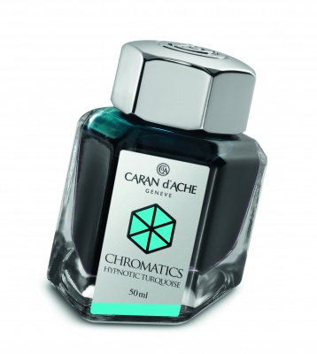 CA1Z-MLT90 Carandache CHROMATICS. Флакон с чернилами Carandache Chromatics  Hypnotic turquoise чернила 50мл