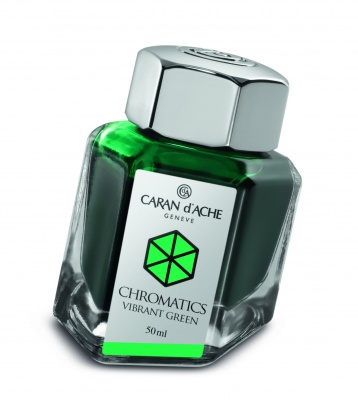 CA1Z-MLT39 Carandache CHROMATICS. Флакон с чернилами Carandache Chromatics  Vibrant green чернила 50мл