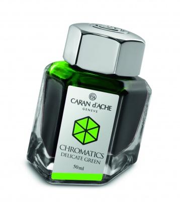 CA1Z-MLT9 Carandache CHROMATICS. Флакон с чернилами Carandache Chromatics  Delicate green чернила 50мл