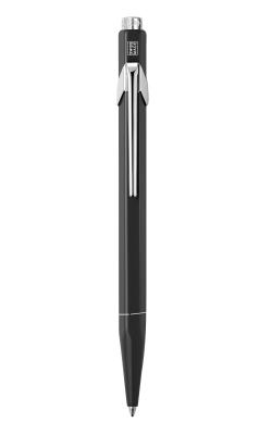 849.509 Ручка шариковая Carandache Office Popline  Matte Black M синие чернила подар.кор.