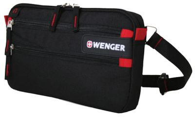 GS1840611144 Wenger. Сумка на пояс WENGER, черный, полиэстер 600D, 32х3х17.5 см