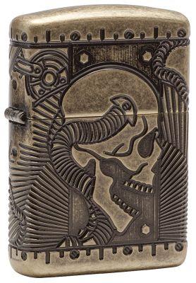GR171113336 Zippo Зажигалки шиpокие. Зажигалка ZIPPO Armor™ с покрытием Antique Brass, латунь/сталь, медная, матовая, 36x12x56 мм