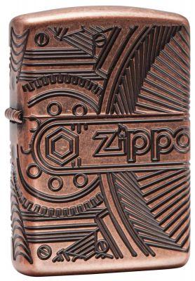 GR171113337 Zippo Зажигалки шиpокие. Зажигалка ZIPPO Armor™ с покрытием Antique Copper™, латунь/сталь, медная, матовая, 36x12x56 мм