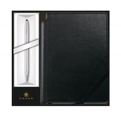 GS184061191 Cross Century Classic. Набор: Шариковая ручка Cross Classic Century Chrome и Записная книжка Cross Journal Classic Black,A5