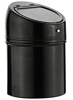 GR1711131179 S.QUIRE. Пепельница S.Quire круглая c откидной крышкой, сталь, покрытие никель и черная краска, черный, 67 мм