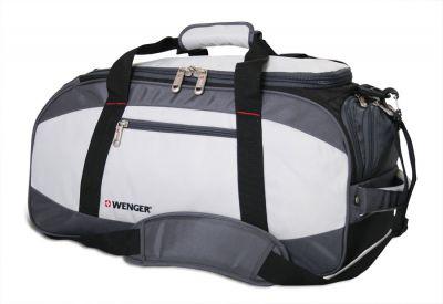GS184061465 Wenger. Сумка спортивная WENGER, серый/чёрный, полиэстер 1200D, 52х25х30 см, 39 л