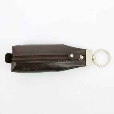 GR171113765 S.QUIRE Кожаная коллекция. Ключница S.Quire, натуральная воловья кожа, коричневый, гладкая, 19 x 6,5 x 1 см