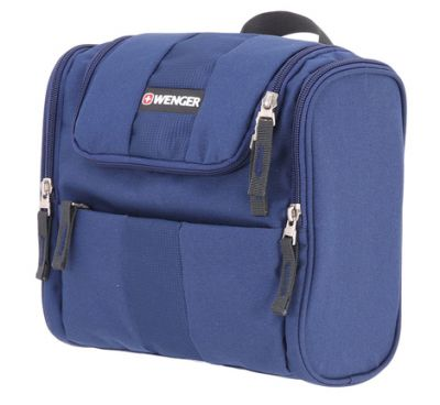 GS184061430 Wenger. Несессер WENGER, синий, полиэстер, 26х7х23 см