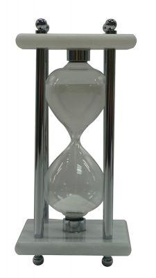 GS18406148 Песочные часы, 8см x 8см x 17см, 15 минут, мрамор