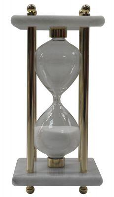 GS18406149 Песочные часы, 8см x 8см x 17см, 15 минут, мрамор