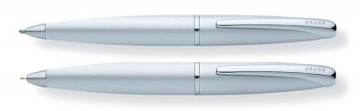 881-1 Набор Cross ATX: шариковая ручка и механический карандаш 0.7мм. Цвет - матовый хромовый